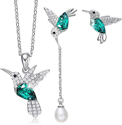 CDE  Hummingbird Necklaces and Earrings Jewelry Set Stylish Style