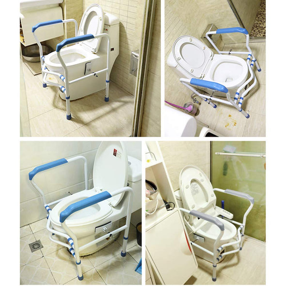 Adjustable Height  Bathroom handrail Toilet Safety Frame