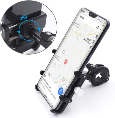 Aluminum Alloy Bike Phone Holder with 360° Rotation