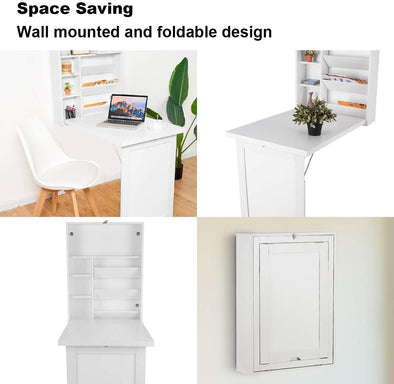 Fold Out Wall Mounted Multi-Function Computer Desk