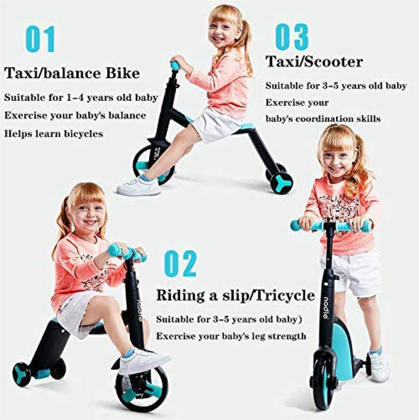 3 in 1 Kids  Scooter Perfect for Boys and Girls From 2 to 5 Years