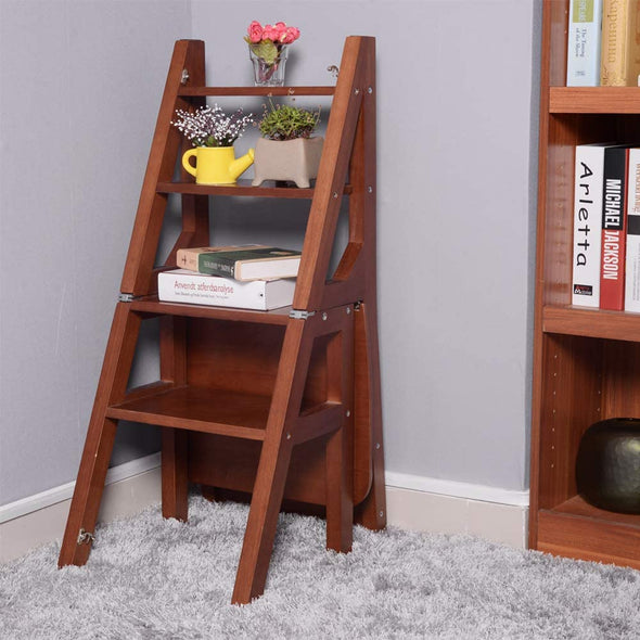 Convertible Ladder Chair Library Kitchen Step Stool