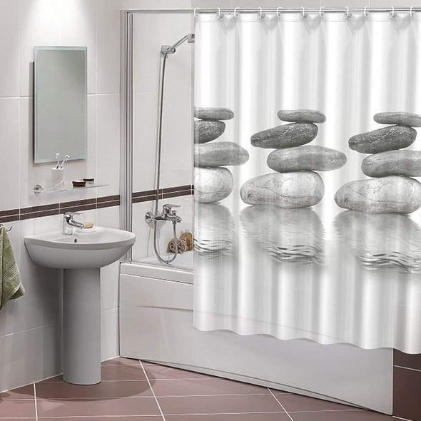 Cobblestone Bathroom Shower Curtains