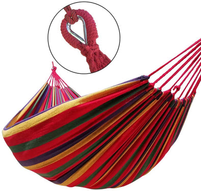 Canvas Cotton Hammock for Patio Porch Garden Backyard Lounging