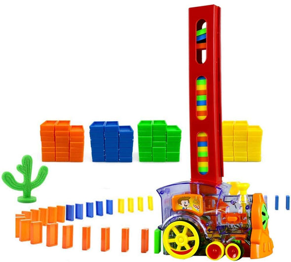 60/100/180 Pcs Dominoes Game Electric Train Kids Toy