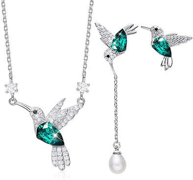 CDE  Hummingbird Necklaces and Earrings Jewelry Set Elegant Style