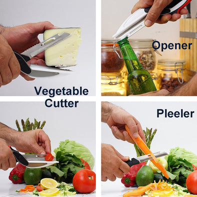 Clever Cutter 6-in-1 Food Chopper - Replace your Kitchen Knives and Cutting Boards