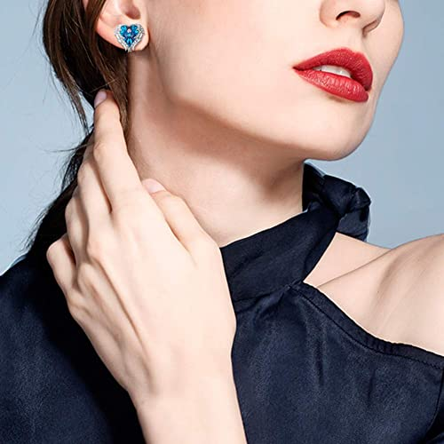 CDE Angle Wing Earings for Women Rose Gold | Blue