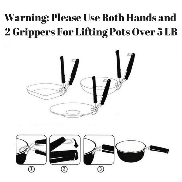 Set of Two Gripper Clips for Moving Hot Plate or Bowls