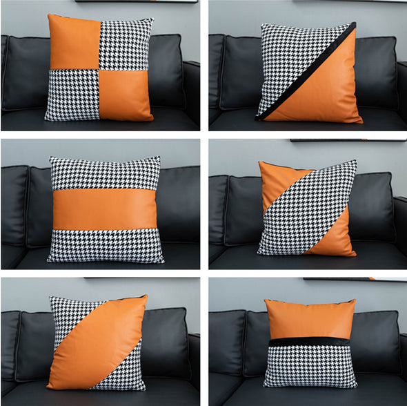 Faux Leather Throw Pillow Covers 18x18 inch/45X45cm Set of 6
