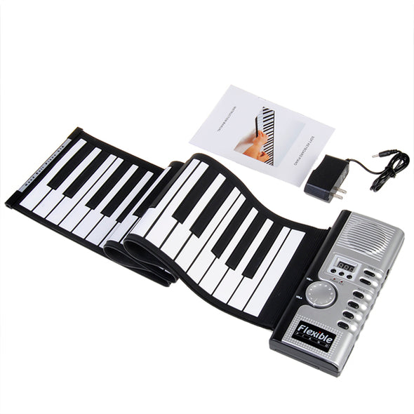 61-Key Flexible Roll-Up Softkey MIDI Keyboard Piano