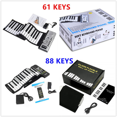 61/88 Key Flexible Roll-Up Softkey Piano With Loud Speaker