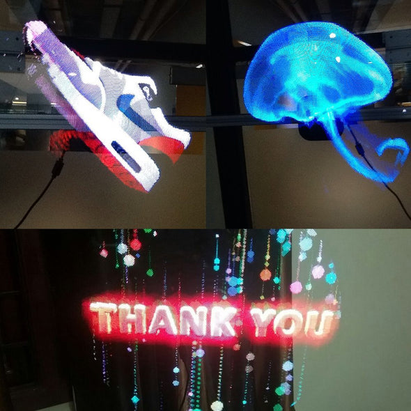 Hologram LED Fan With 3D Holographic Advertising Vision Display