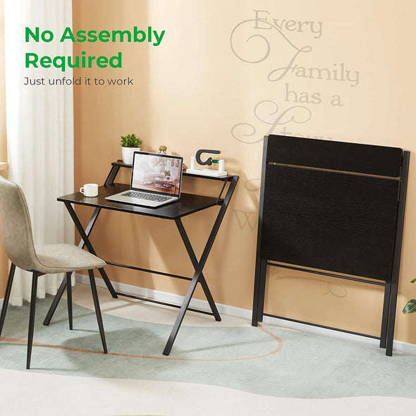 Space Saving No Assembly Needed Folding Laptop Study Table
