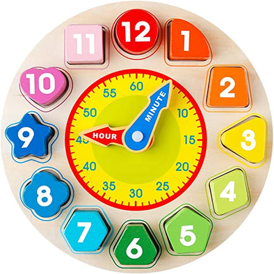 Wooden Shape Color Sorting Clock
