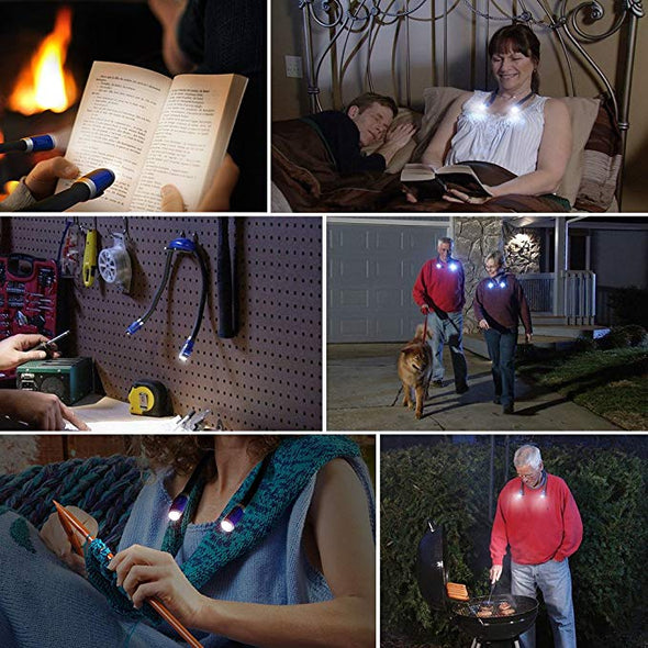 Neck Hug Rechargeable Hands Free LED Book Light