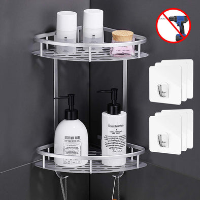 2 Tiers Aluminium Corner Shower Caddy