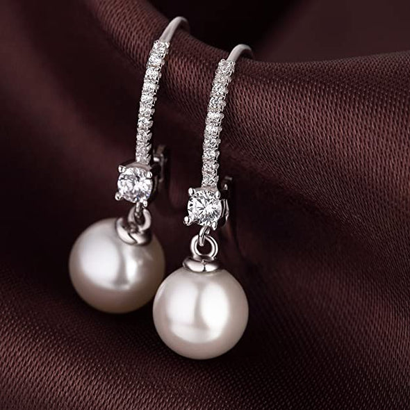 2020 New Design S925 Sterling Silver 10mm Pearl Earrings