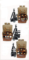 Canvas Waterproof Photography Bag for Nikon/Canon/ Sony/Fujifilm