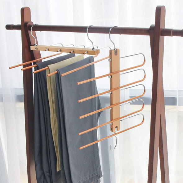 Space Saving Closet Magic Pants Hangers(one pack)