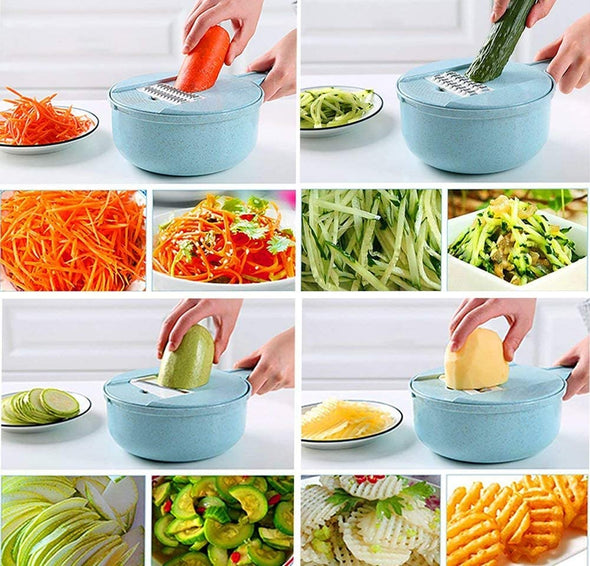 12 in 1 Multi-Function Mandoline Slicer