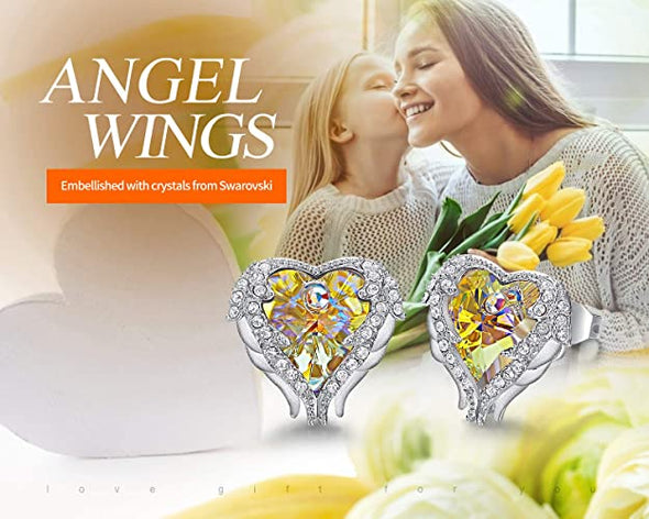 CDE Angle Wing Earings for Women White Gold | Yellow