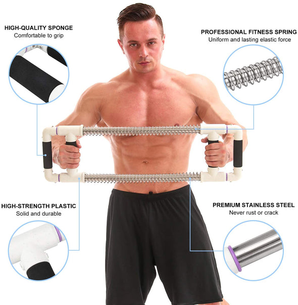 Push Down Bar Machine - Chest Expander at Home Workout Equipment