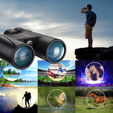 10x42 Waterproof High Power Nitrogen-Filled BAK4 Prism FMC Lens Binoculars for Adults