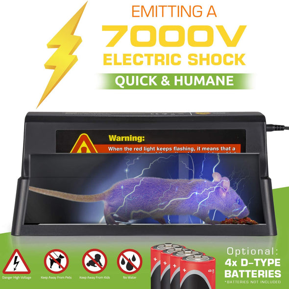 7000v Shock Effective & Humane Electronic Rodent Zapper