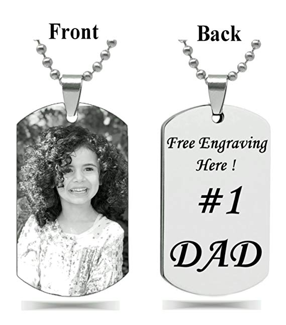 Personalized Photo Text Dogtags