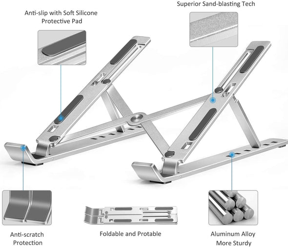 Adjustable Aluminum Laptop Computer Stand