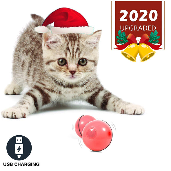 Smart Interactive Cat Toy - Newest Version 360 Degree Self Rotating Rechargeable Ball