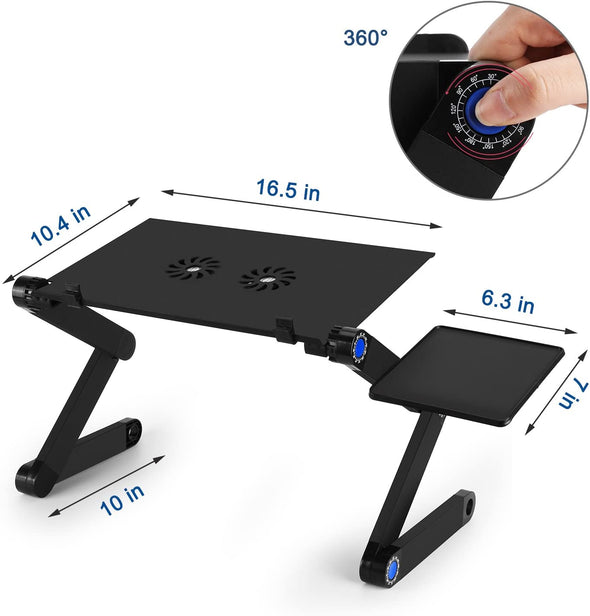 360 Adjustable Portable Folding Laptop Desk & Ergonomic Reading Stand