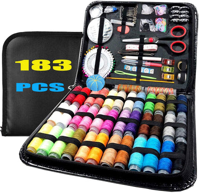 183PCS Sewing Kit Sewing Accessories With PU Case