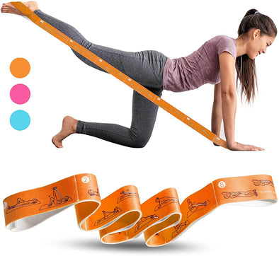 High Elastic Yoga Fitness Resistance Band 8-Loop