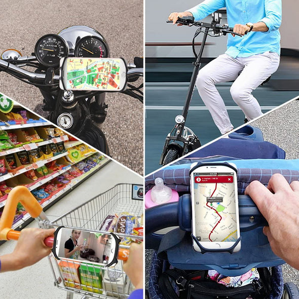 360°Rotation Silicone Bicycle Phone Holder
