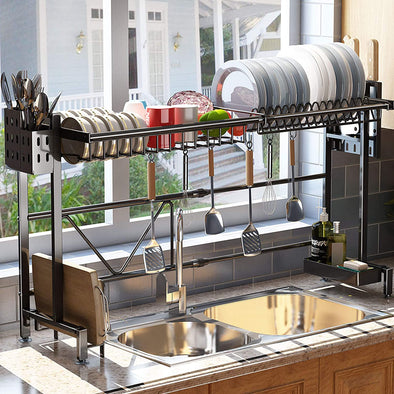 "Width Adjustable Over the Sink Dish Drying Rack( Fit Sink Size  22""-36"")"