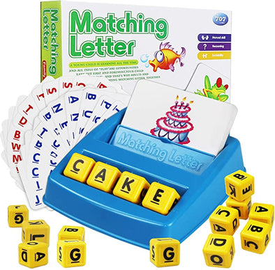 Matching Letter Game Teaches Word