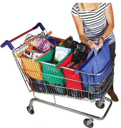 Reusable Eco Friendly Shopping Bags to Easily and Safely Bag your Groceries From Your Cart