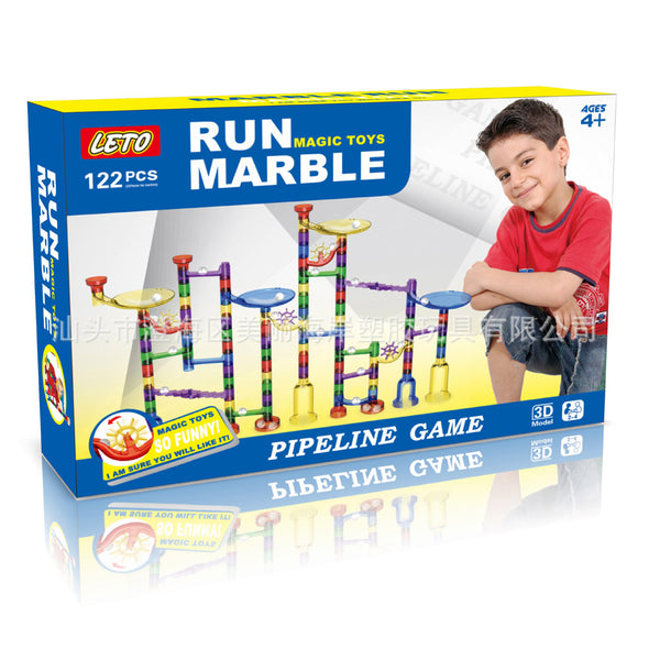 Marble Run Toy 122 Pcs for Kids Age 4 +