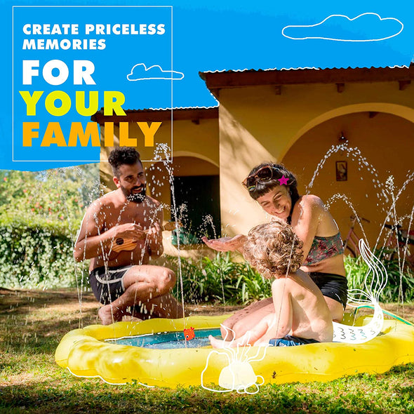 68inch Inflatable Splash Pad Sprinkler for Kids Toddlers