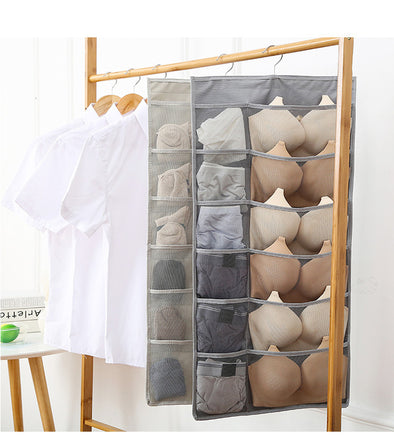 30 Pockets Dual-Sided Hanging Closet Organizer