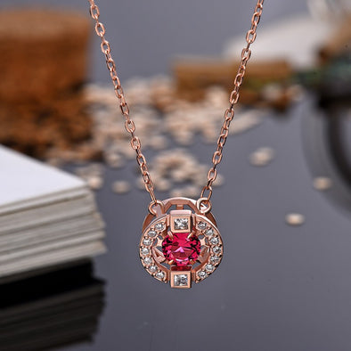 Jumping Crystal Necklace for Women