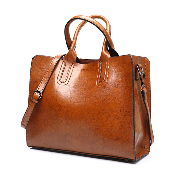 High Quality Casual Female Leather Handbags