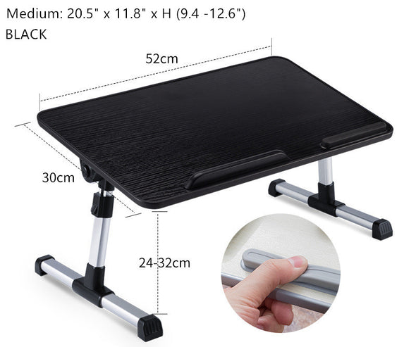 Height Adjustable Laptop Bed Table