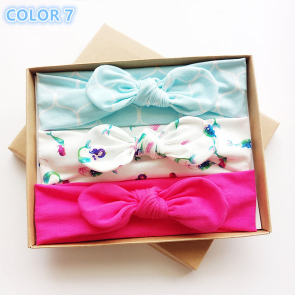 Baby Girls Headbands with Bows 3 Pack