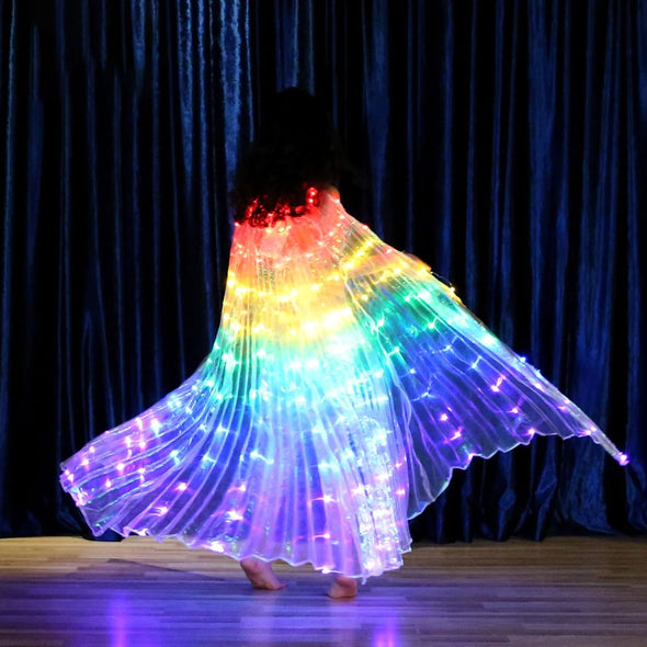 Children Dancers LED Performance Fluorescent Butterfly Wings