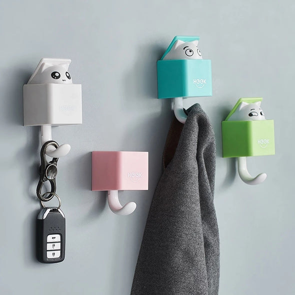 Wall Mounted Coat Hooks for Coat, Scarf, Hat, Towel, Bag, Utility Cat Hook