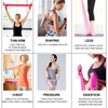 5 Colors Long Exercise Bands for Arms, Shoulders, Legs and Butt