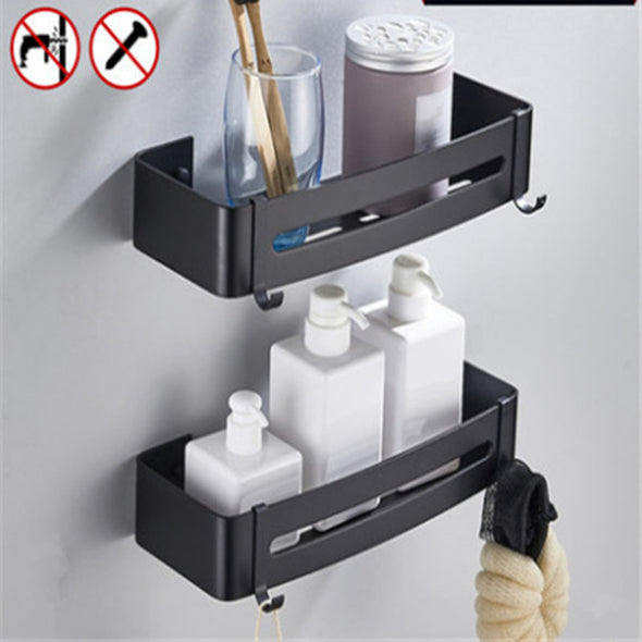 Heavy Duty Multifunction Aluminum  Square Storage Shelf with Hooks
